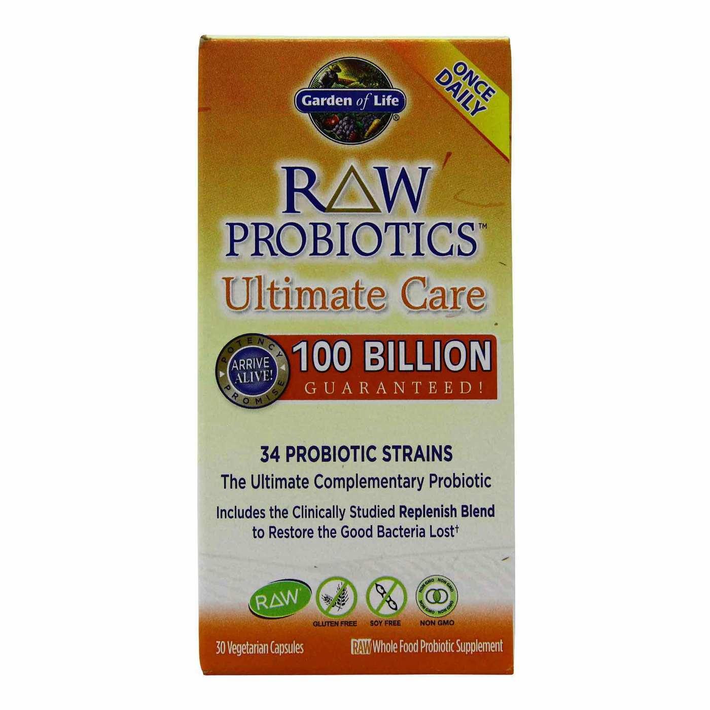 Garden of Life RAW Probiotics Ultimate Care – 30 Vegetarian Capsules