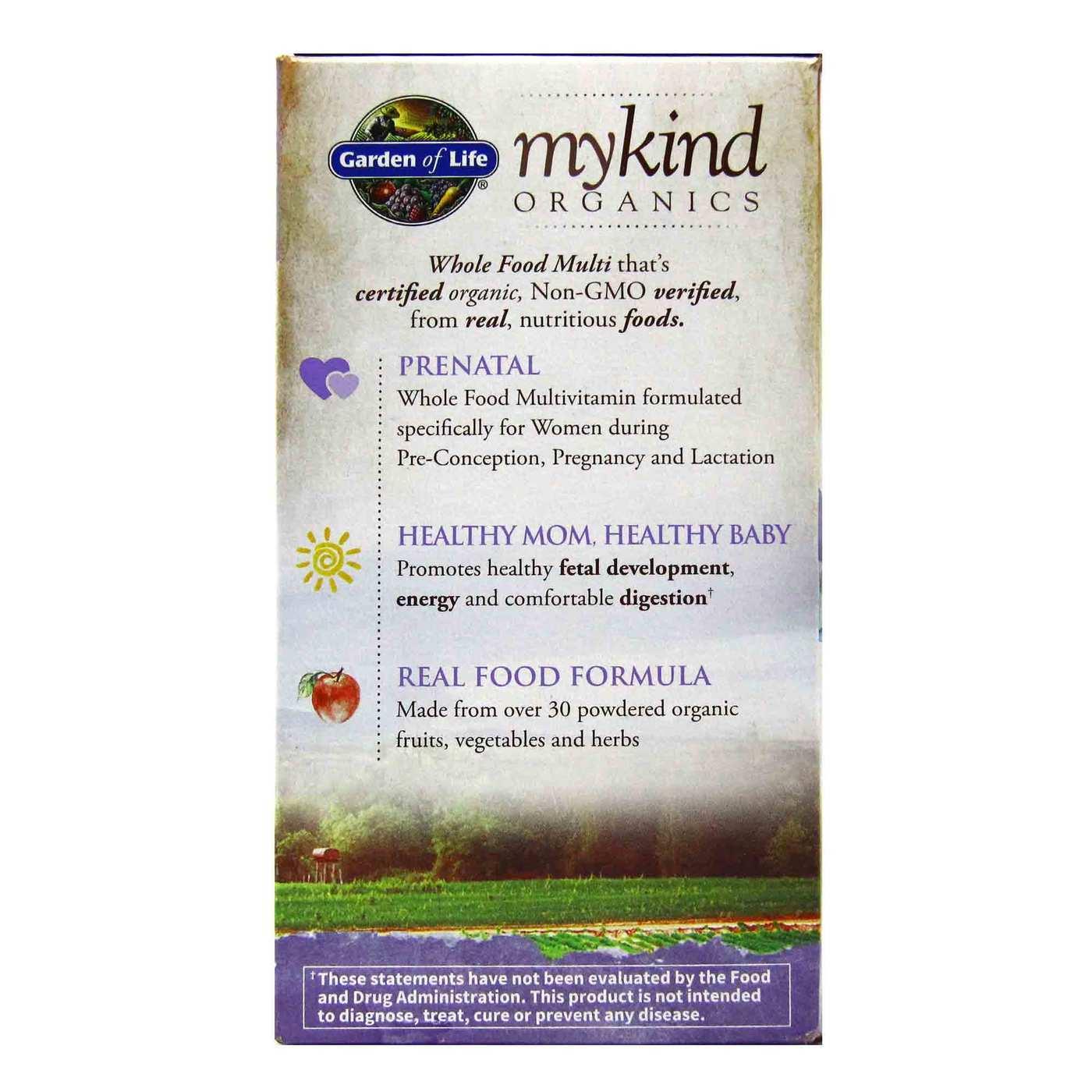 Garden Of Life Mykind Organics Prenatal Multivitamin Vegan 180 Vegan Tablets Evitamins Com