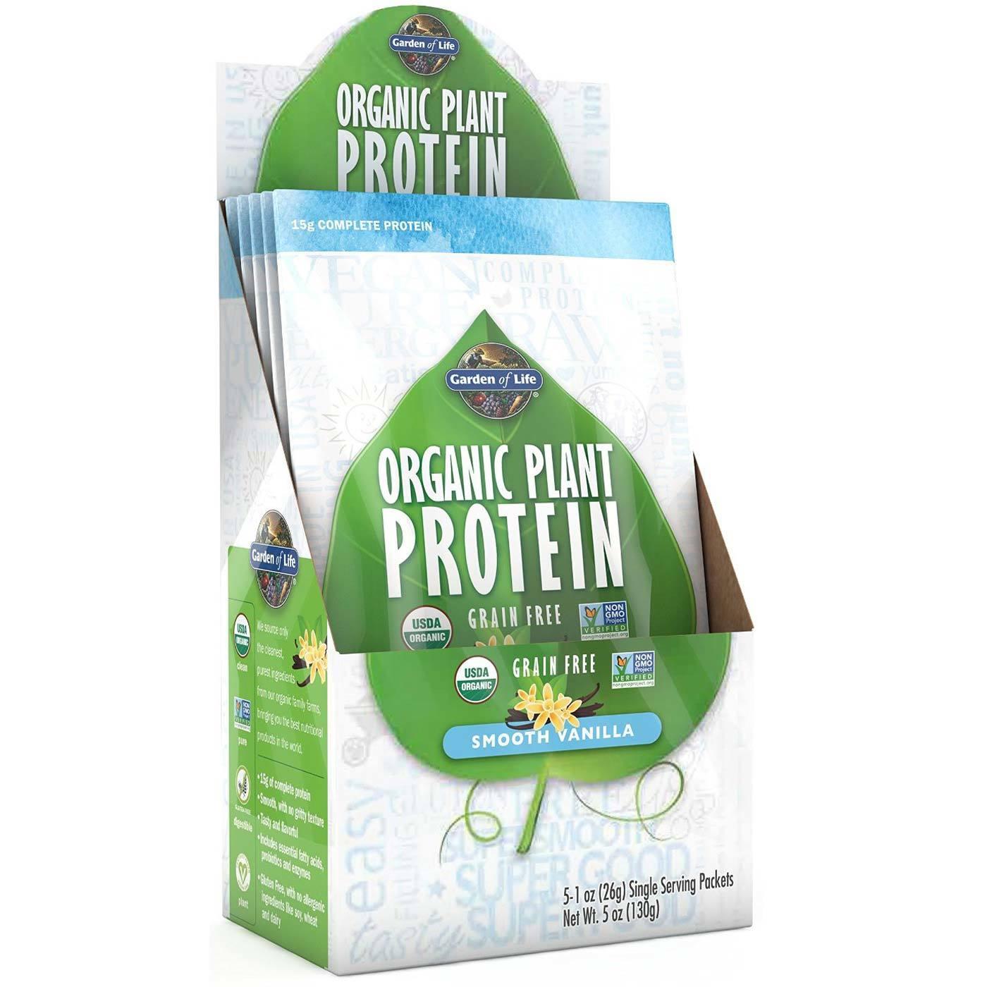 Garden Of Life Plant Protein Smooth Vanilla 5 1 Oz Packets Evitamins