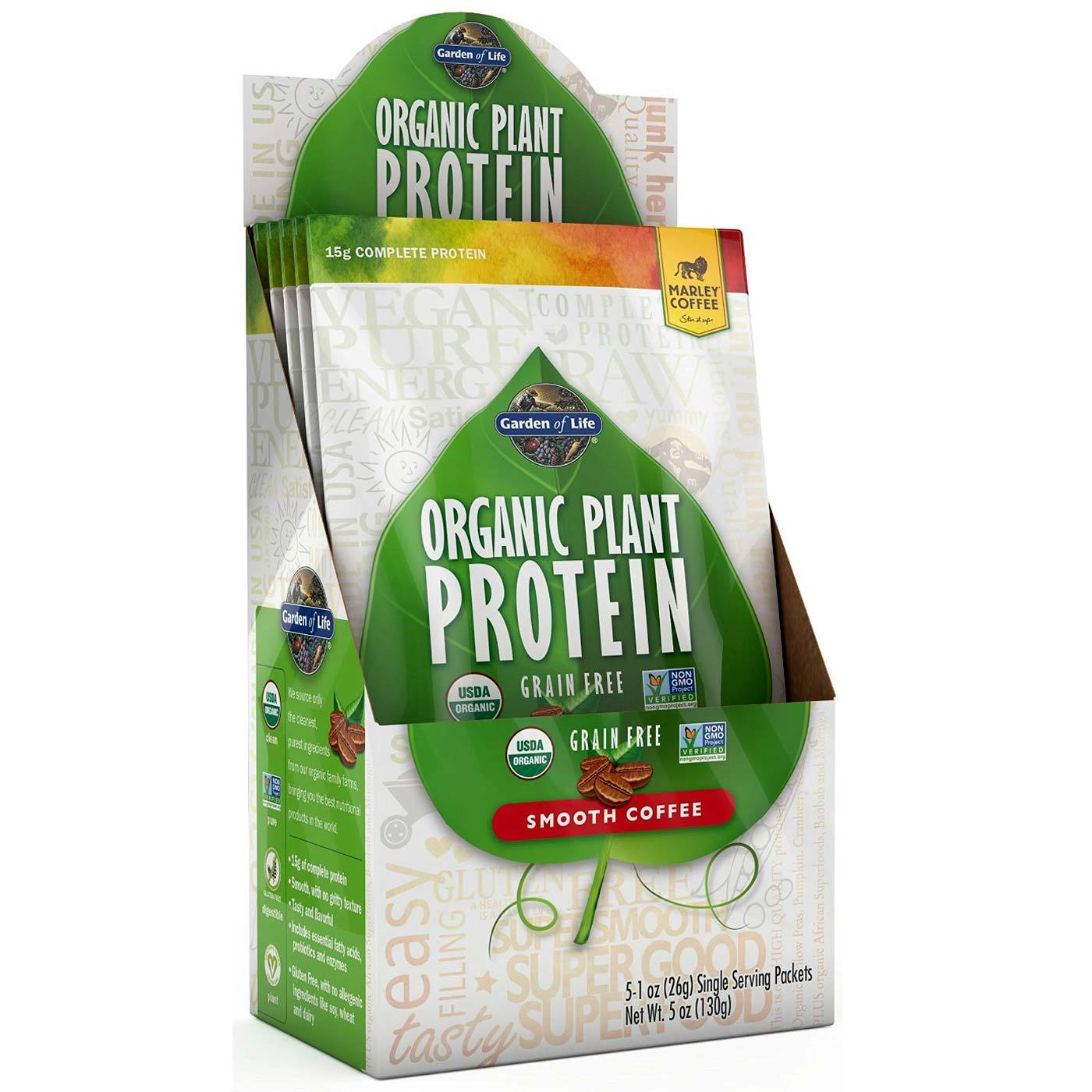 Garden Of Life Organic Plant Protein Smooth Coffee 5 1 Oz Packets