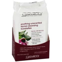 Giovanni Hair Care Products Soothing Unscented Facial Cleansing Towelettes