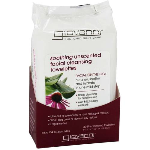 Soothing Unscented Facial Cleansing Towelettes