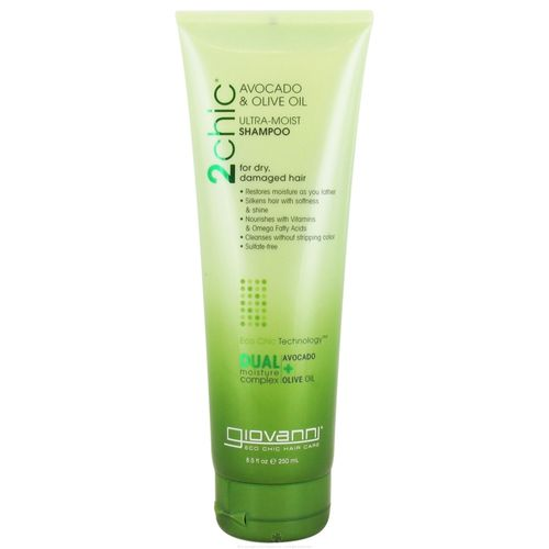Giovanni Hair Care Products 2chic Ultra-Moist Shampoo Aguacate y aceite de oliva - 8.5 fl oz