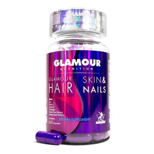 Glamour Nutrition Hair Skin and Nails  - 60 Capsules - 352796_front2019.jpg