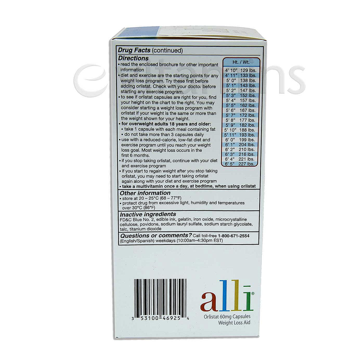 Glaxosmithkline Alli Diet Pill Refill Kit 120 Caps