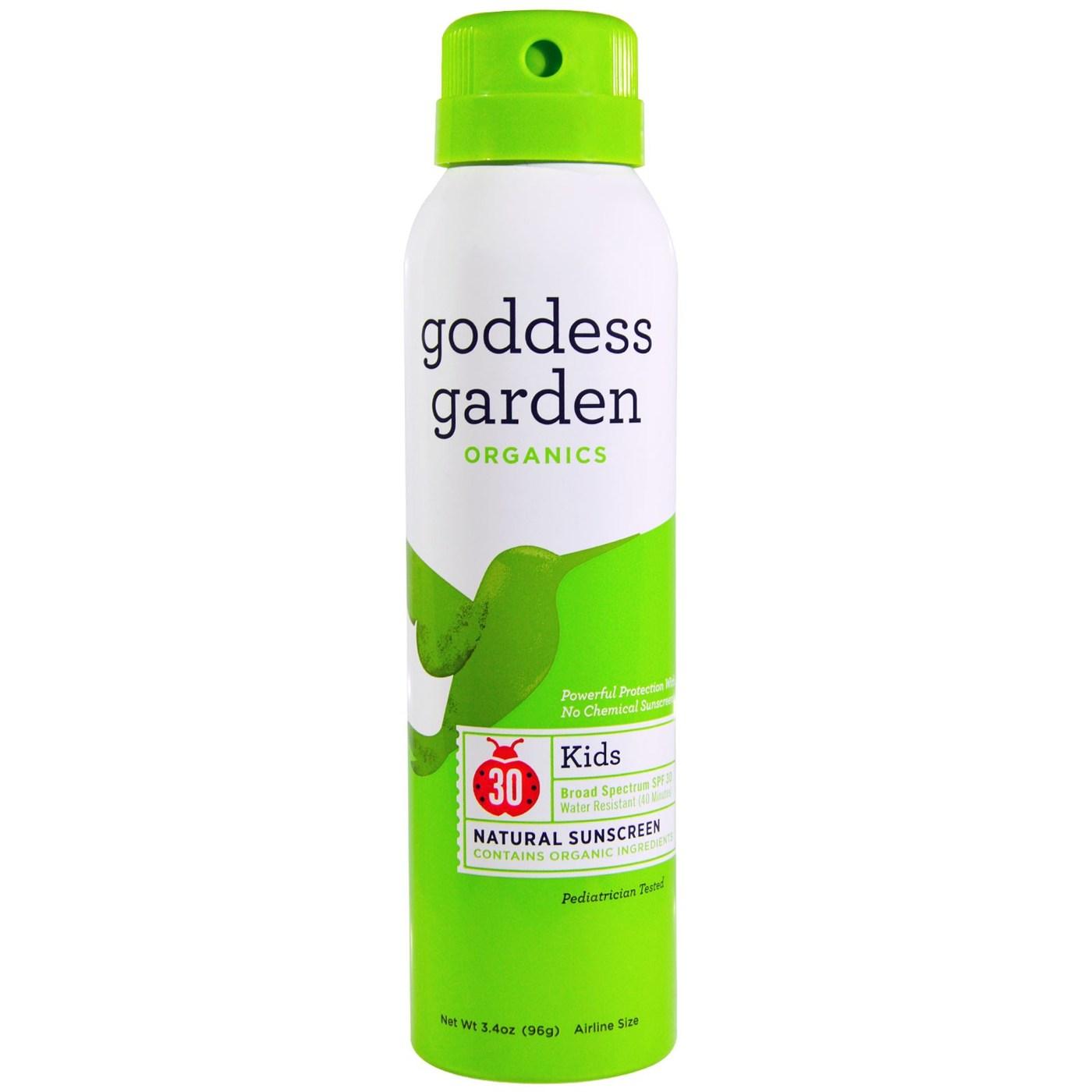 Goddess Garden Kid 39 S Continuous Spray Natural Sunscreen Spf 30 3 4 Oz