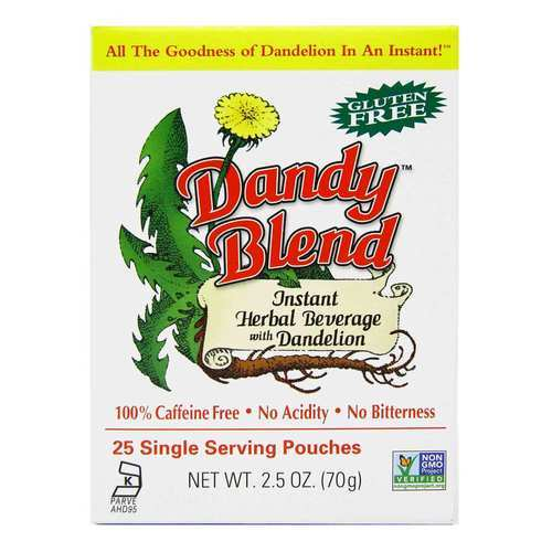 Goosefoot Acres Dandy Blend Instant Herbal Beverage with Dandelion Coffee - 25 Single Serving Pouches - 23581_front2020.jpg