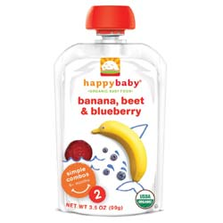 Happy Baby Organic Baby Food Stage 2 Simple Combos