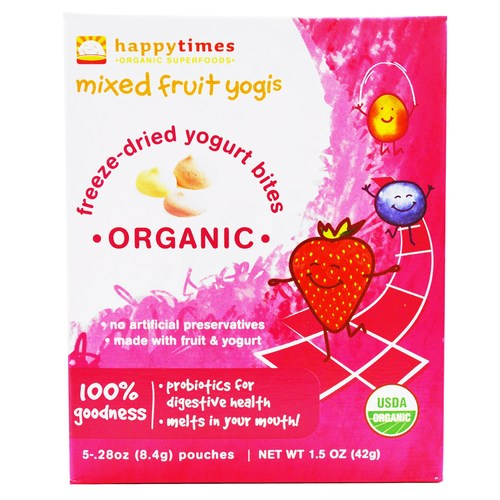 Happy Baby Mixed Fruit Yogis Fruta mezclada - 5 - .28 oz Bags  - 27545_01.jpg