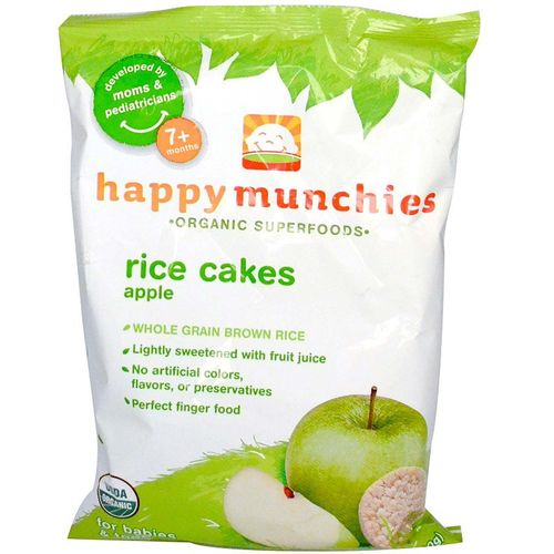 Happy Baby Happy Munchies Rice Cakes Apple - 1.4 oz