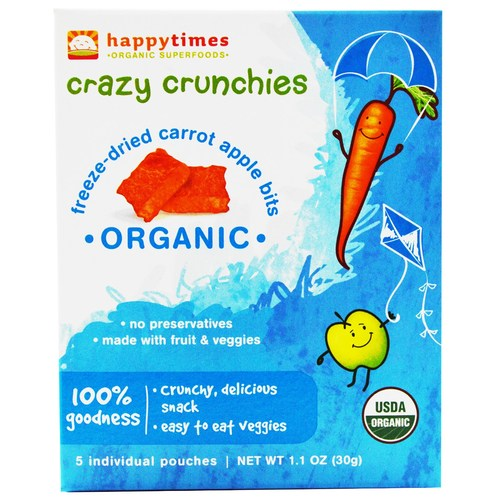 Happy Times Freeze-Dried Carrot and Apple Bits (6 Pack)