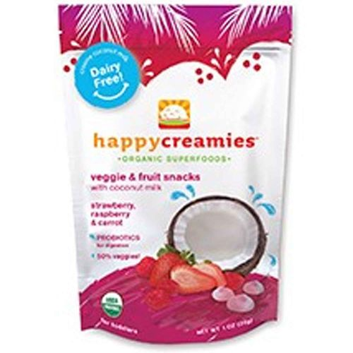 Happy Baby Happy Creamies Strawberry Raspberry and Carrot - 8 - 1 oz Pouches