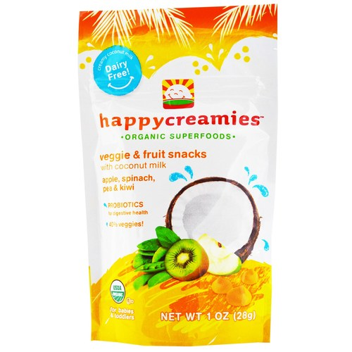 Happy Baby Happy Creamies Apple Spinach Pea and Kiwi - 8 - 1 oz Pouches - 65137_01.jpg