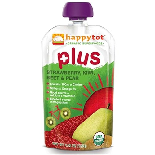 Happy Tot Happy Tot Plus Organic Superfoods Strawberry, Kiwi, Beet and Pear - 4.22 oz
