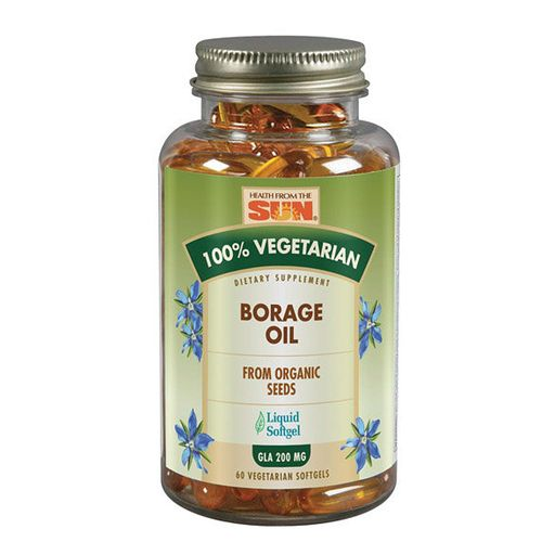 Health From the Sun Borage Oil - 200 mg - 60 Vegetarian Softgels