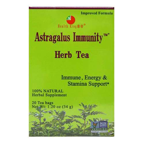 Health King and Balanceuticals Non GMO Herb Tea - Astragalus Immunity - 20 Bags - 19241_front2020.jpg