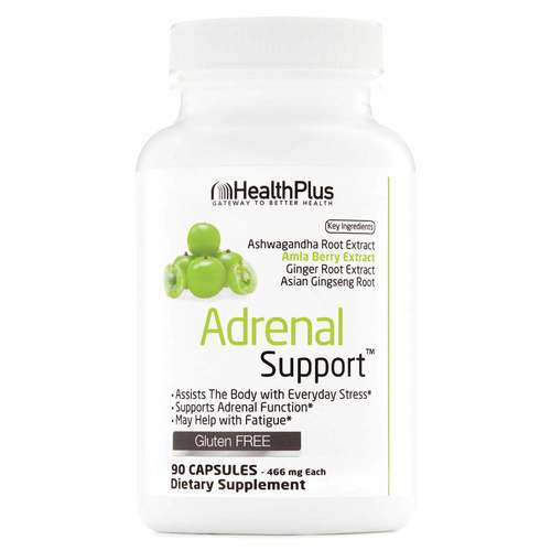 Health Plus Adrenal Support  - 90 Capsules - 12677_front.jpg