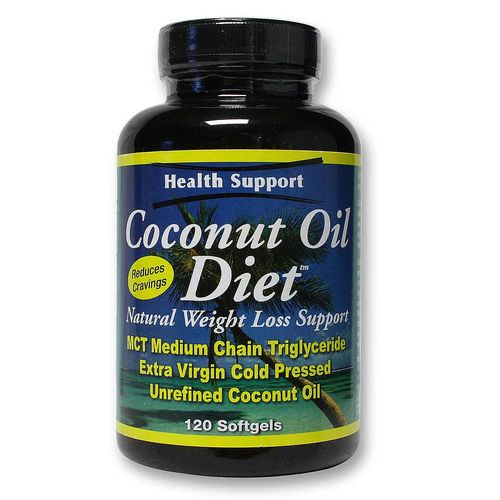 Health Support Coconut Oil Diet Softgels - 120 Softgels - 20111129_61.jpg