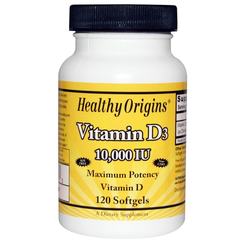 Healthy Origins Vitamin D3  - 10,000 IU - 120 softgels - 19377_01.jpg