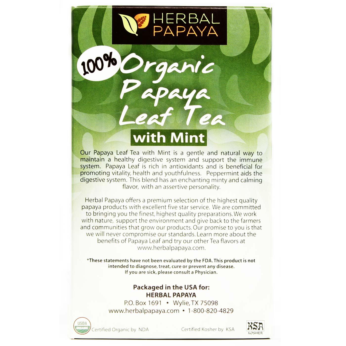 how to make papaya leaf tea