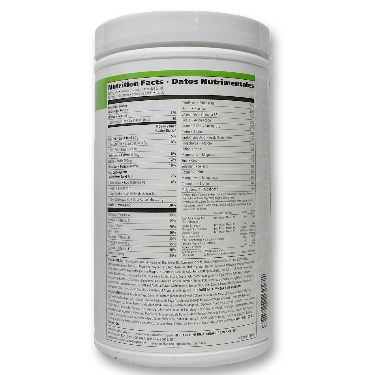 It is an image of Impertinent Herbalife Product Nutrition Labels