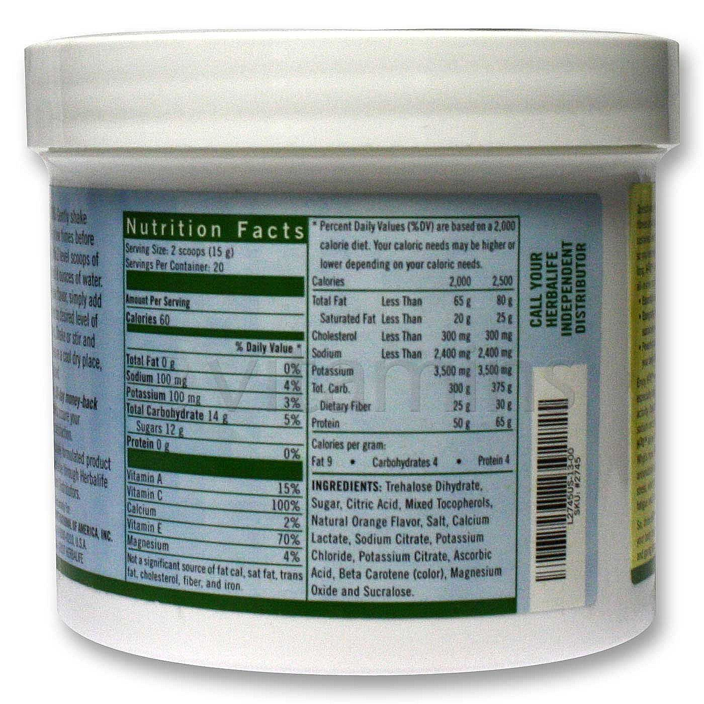 herbalife h3o nutrition facts