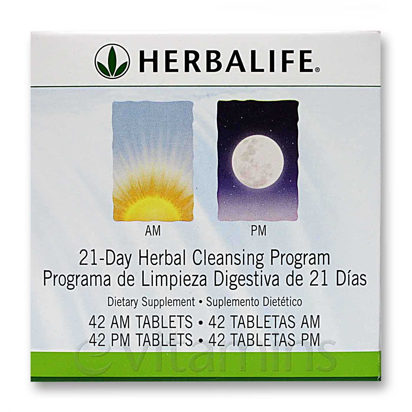 Herbalife 21-Day AM / PM Herbal Cleansing Program - 42 AM Tablets ...