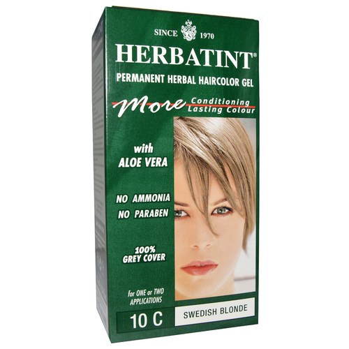 Herbatint Permanent Herbal Haircolor Gel Blonde - 10C Swedish - 4.56 fl oz
