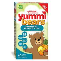 Hero Nutritionals Yummi Bears Echinacea plus Vitamin C  Zinc