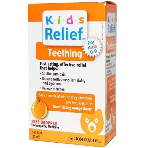 Homeolab USA Kids Relief Teething Orange - 0.85 fl oz - 19798_a.jpg