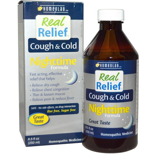 Homeolab USA Real Relief Cough  Cold Nighttime Formula - 8.5 fl oz - 276725_a.jpg