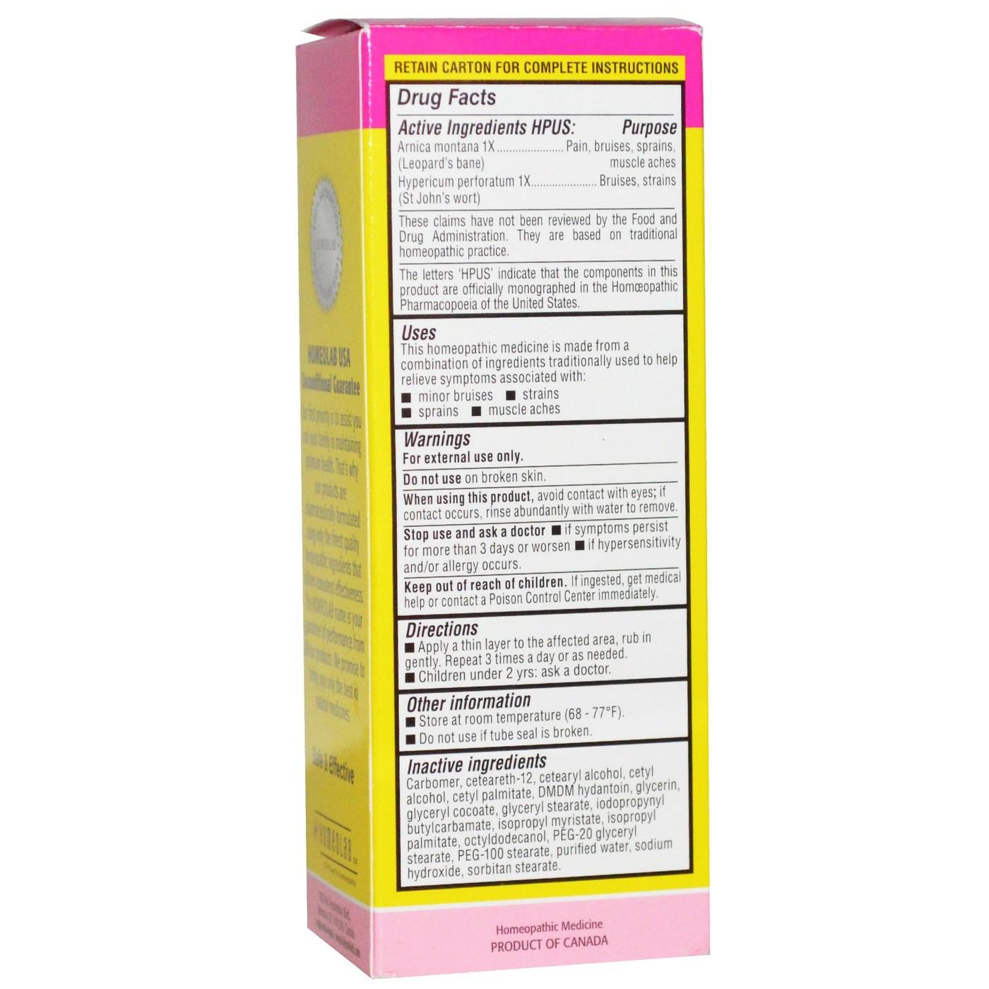 Homeolab USA Kids Relief Arnica + Pain Cream - 1 76 oz