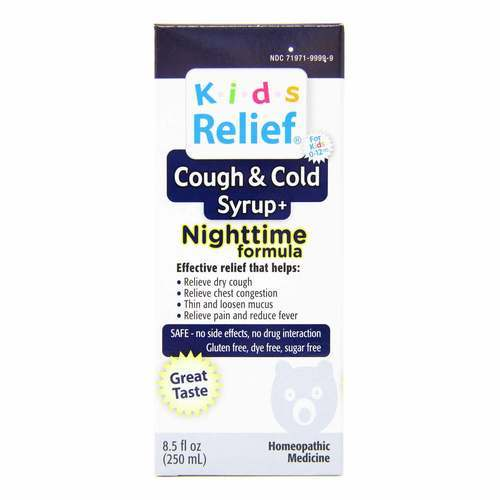 Homeolab USA Kids Relief Cough  Cold Nighttime Formula - 8.5 oz - 55356_front2019.jpg