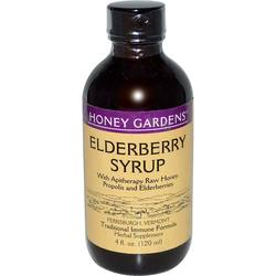 Honey Gardens Apitherapy Elderberry Honey Syrup