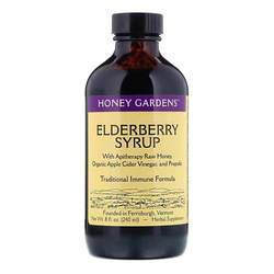 Honey Gardens Elderberry Syrup with Apitherapy Raw Honey, Apple Cider Vinegar and Propolis