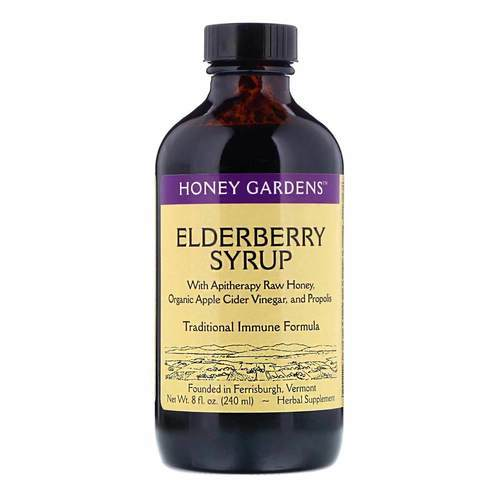 Honey Gardens Apitherapy Elderberry Honey Syrup - 8 fl oz - 28084_front2020.jpg