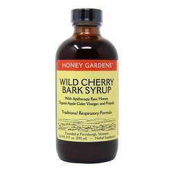 Honey Gardens Apitherapy Raw Honey Wild Cherry Bark Syrup