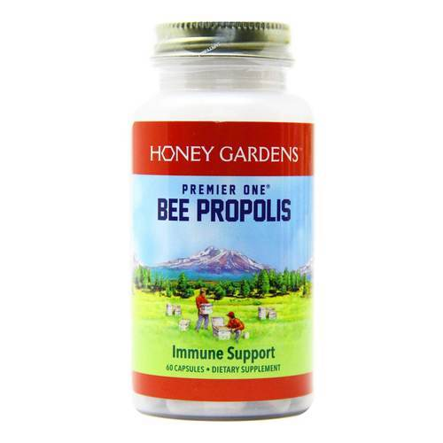 Honey Gardens Premier One Bee Propolis 650 mg  - 60 Capsules - 36866_front.jpg