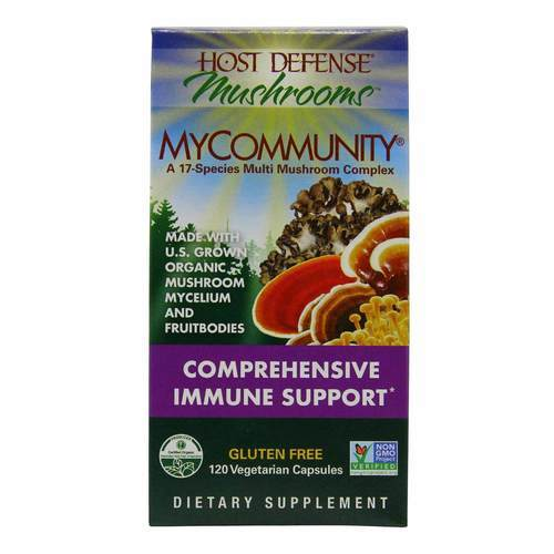 Host Defense MyCommunity - Comprehensive Immune Support - 120 Vegetarian Capsules - 350554_front2020.jpg