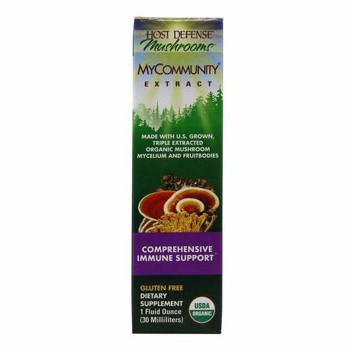 Host Defense MyCommunity Extract - Comprehensive Immune Support - 1 fl oz (30 ml) - 350555_front2020.jpg