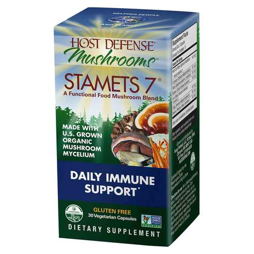 Host Defense Stamets 7 - Daily Immune Support  - 30 Vegetarian Capsules - 350557_front.jpg