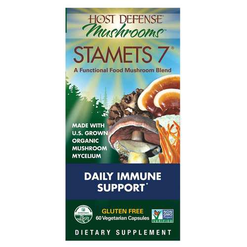 Host Defense Stamets 7 - Daily Immune Support  - 60 Vegetarian Capsules - 350558_front.jpg