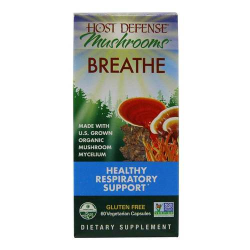 Host Defense Breathe - Healthy Respiratory Support - 60 Vegetarian Capsules - 350562_front2020.jpg