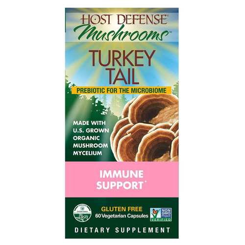Host Defense Mushrooms Turkey Tail 60 Vegetarian Capsules - 350570_front.jpg