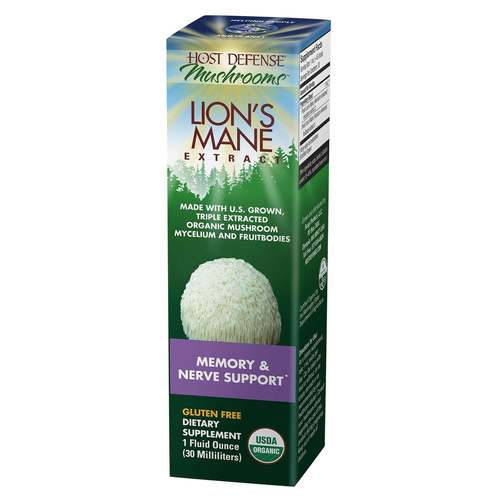 Host Defense Lion's Mane Extract - Memory  Nerve Support  - 1 fl oz (30 ml) - 350575_front.jpg