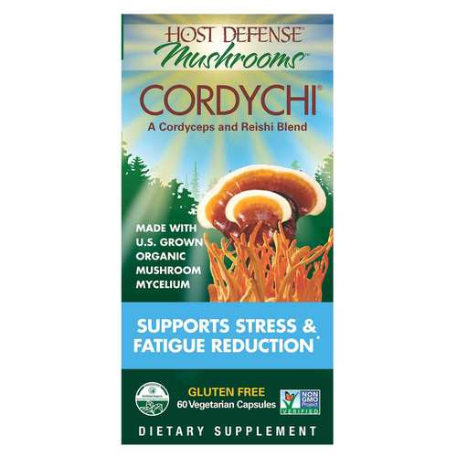 Host Defense Cordychi - Supports Stress  Fatigue Reduction - 60 Vegetarian Capsules - 350580_front.jpg