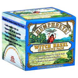 Humphreys Homeopathic Remedies Witch Hazel Cleansing Pads