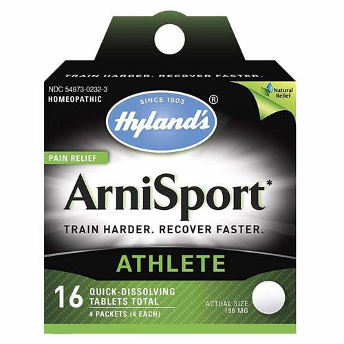 Hylands ArniSport Arnica Muscle Pain Relief for Post Workout Recovery 16 Tablets - 350918_front.jpg