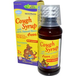 Hyland's Cough Syrup 4 Kids with 100- Natural Honey