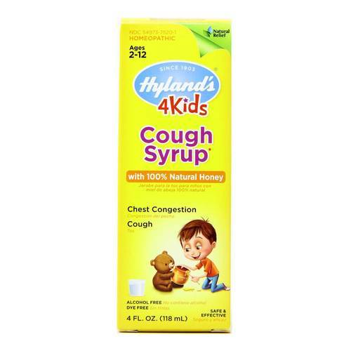 Hyland's Cough Syrup 4 Kids with 100% Natural Honey  - 4 fl oz - 53120_front.jpg